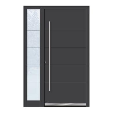 Portoncino d'ingresso QF20 grigio L 130 x H 210 cm sinistra