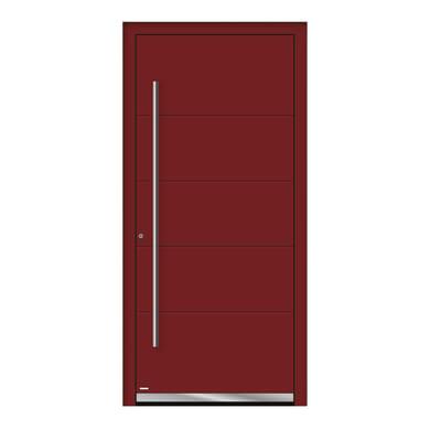 Portoncino d'ingresso QF20 rosso L 90 x H 210 cm sinistra