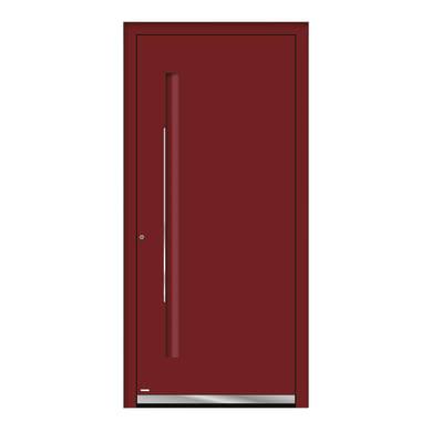 Portoncino d'ingresso QE10 rosso L 90 x H 210 cm sinistra