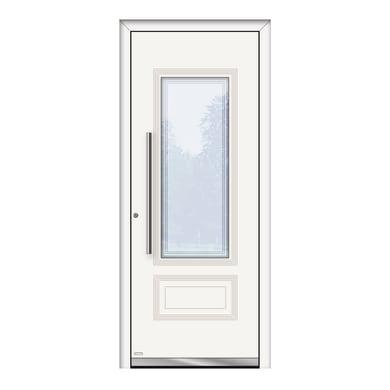 Portoncino d'ingresso QT80 bianco L 80 x H 210 cm sinistra