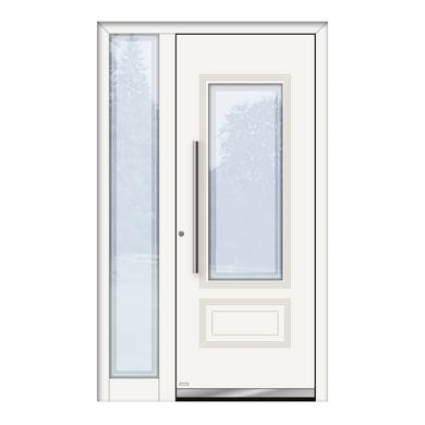 Portoncino d'ingresso QT80 bianco L 120 x H 210 cm sinistra