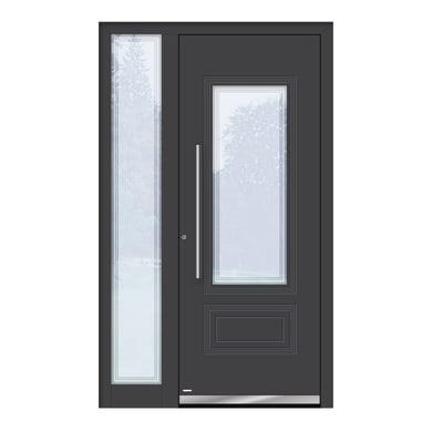 Portoncino d'ingresso QT80 grigio L 120 x H 210 cm sinistra