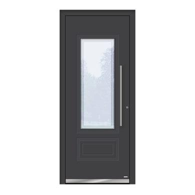 Portoncino d'ingresso QT80 grigio L 80 x H 210 cm destra
