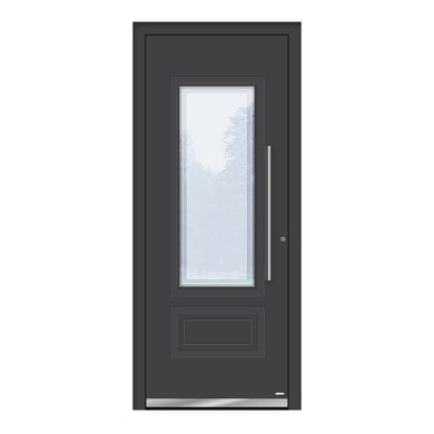 Portoncino d'ingresso QT80 grigio L 80 x H 210 cm sinistra