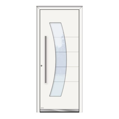 Portoncino d'ingresso QS70 bianco L 80 x H 210 cm sinistra