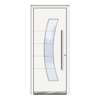 Portoncino d'ingresso QS70 bianco L 80 x H 210 cm destra