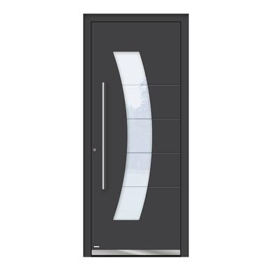 Portoncino d'ingresso QS70 grigio L 80 x H 210 cm destra