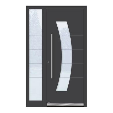 Portoncino d'ingresso QS70 grigio L 120 x H 210 cm sinistra