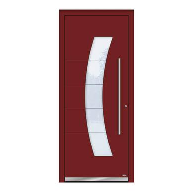 Portoncino d'ingresso QS70 rosso L 80 x H 210 cm destra