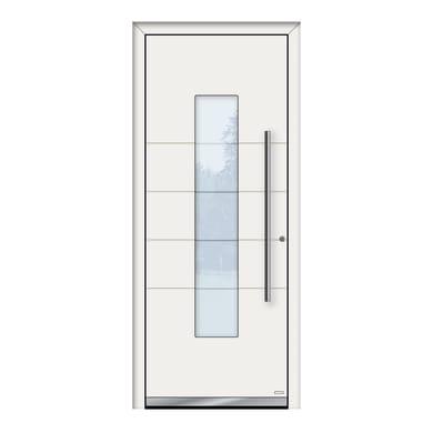 Portoncino d'ingresso QB50 bianco L 80 x H 210 cm sinistra