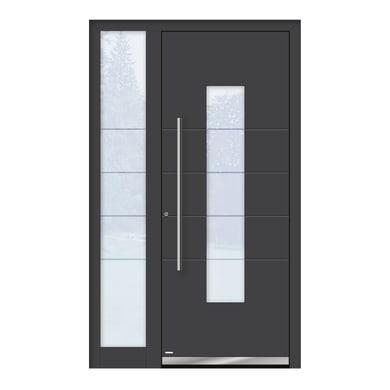 Portoncino d'ingresso QB50 grigio L 120 x H 210 cm sinistra