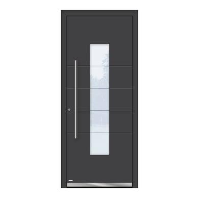 Portoncino d'ingresso QB50 grigio L 80 x H 210 cm sinistra