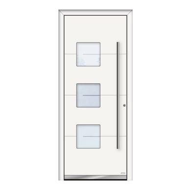 Portoncino d'ingresso QP40 bianco L 80 x H 210 cm destra