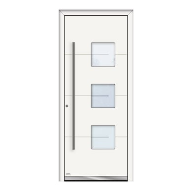 Portoncino d'ingresso QP40 bianco L 80 x H 210 cm sinistra