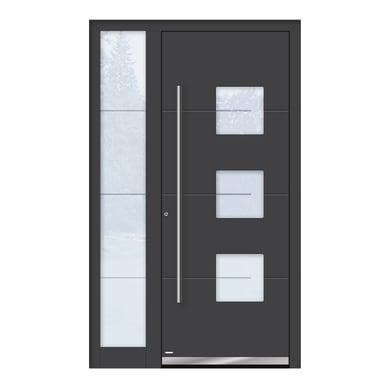 Portoncino d'ingresso QP40 grigio L 120 x H 210 cm sinistra