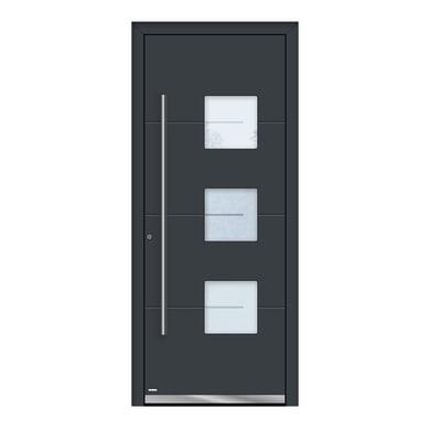 Portoncino d'ingresso QP40 grigio L 80 x H 210 cm sinistra