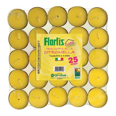 Candela anti-zanzara al profumo di citronella confezione da 25 pezzi