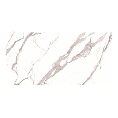 Piano cucina su misura in ceramica bianco venato grigio , spessore 2 cm