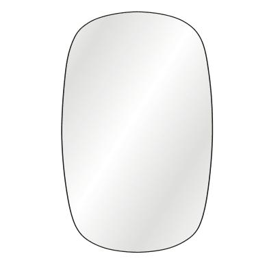 Specchio a parete ovale Bloom nero 50x80 cm INSPIRE
