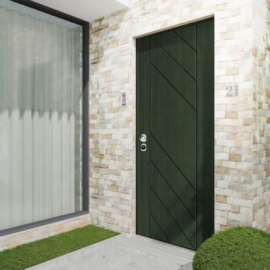 Porta blindata Maxima verde L 90 x H 210 cm destra