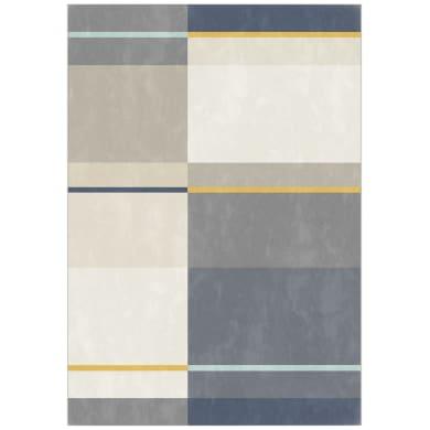 Tappeto Canvas Glen , grigio e blu, 160x230 cm