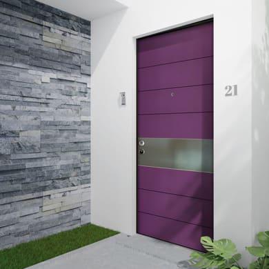 Porta blindata Violet noce L 90 x H 210 cm destra