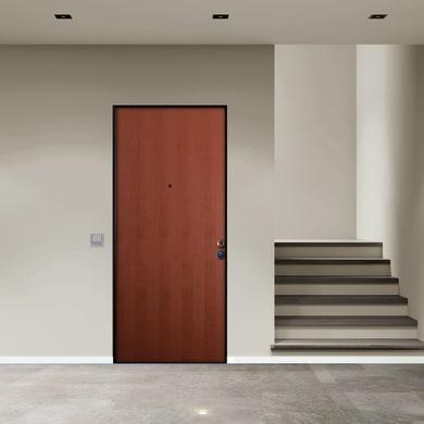 Porta blindata Solid noce L 80 x H 210 cm sinistra