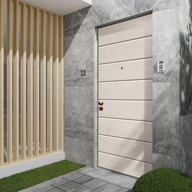 Porta blindata White avorio L 90 x H 210 cm destra