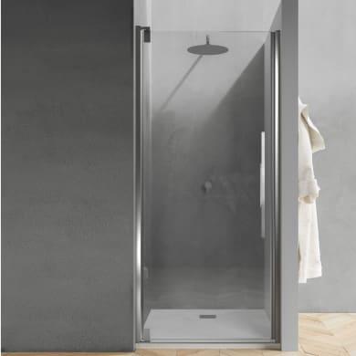 Porta doccia Sword 77.5 cm, H 200 cm in vetro temprato, spessore 8 mm trasparente cromato