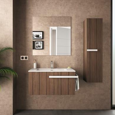 Mobile bagno marrone L 84.3 cm