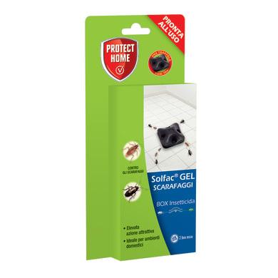Insetticida gel per formiche, ragni, scarafaggi PROTECT HOME Solfac 2 pz
