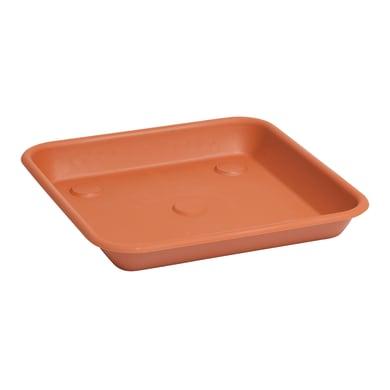 Sottovaso in plastica colore terracotta Quadro Omnia P 19 x