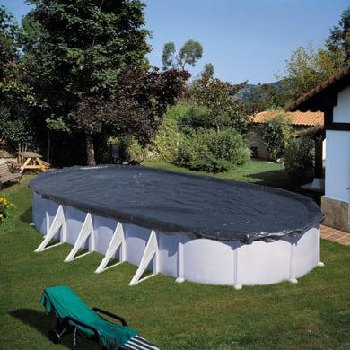 Copertura per piscina invernale NATERIAL CI611NAT in polietilene 460 x 680 cm