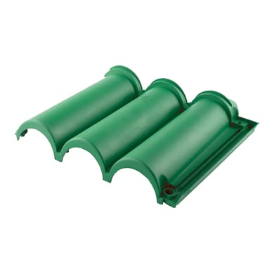 Tegola Senese in polipropilene 36 x 45 cm, Sp 5 mm verde 10 pezzi