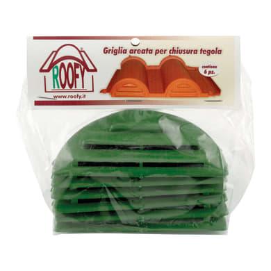 Finale di colmo 6 pezzi in polipropilene 5 x 10 cm verde