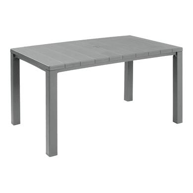 Tavolo da giardino rettangolare Julie ALLIBERT con piano in resina L 90 x P 147 cm
