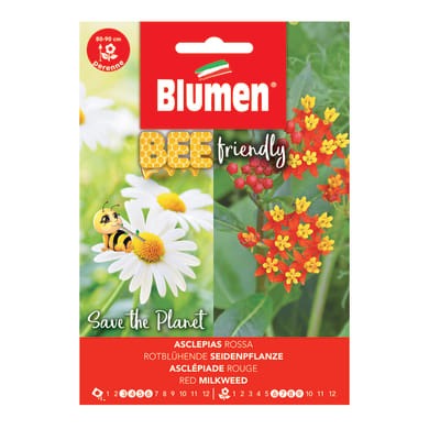 Seme fiore BEE FRIENDLY ASCLEPIAS ROSSA nan20 g
