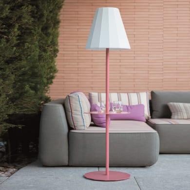 Lampione Helga H165cm LED integrato in plastica bianco 2.8W 150, COLORI PRIMARILM IP65 NEWGARDEN