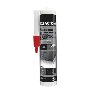 Silicone sigillante AXTON Bituminoso nero 280 ml