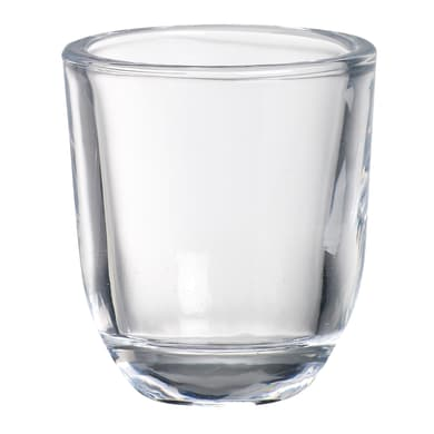 Portacandela in vetro trasparente H 6.5 cm, L 5.8 x Ø 5.8 cm