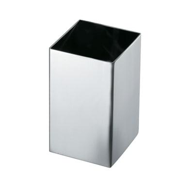 Bicchiere porta spazzolini Nemesia in acciaio inossidabile grigio