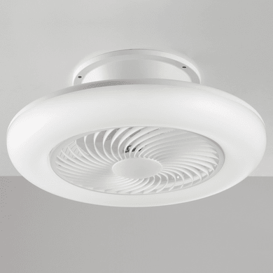 Ventilatore da soffitto LED integrato Aliseo, bianco, D. 55 cm, con telecomando