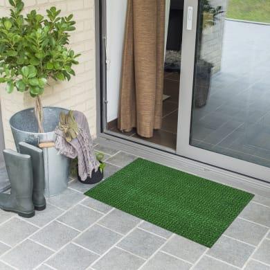 Tappeto spazzola Garden in polietilene verde 40x70 cm