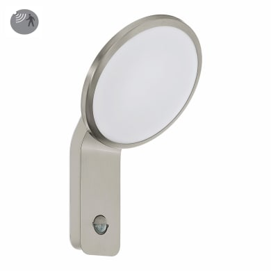 Applique Cicerone LED integrato con sensore di movimento, in acciaio inossidabile, argento, 11W 1000LM IP44 EGLO