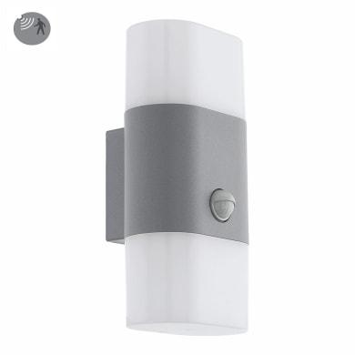 Applique Favria con sensore di movimento, in alluminio, argento, 11W 1300LM IP44 EGLO