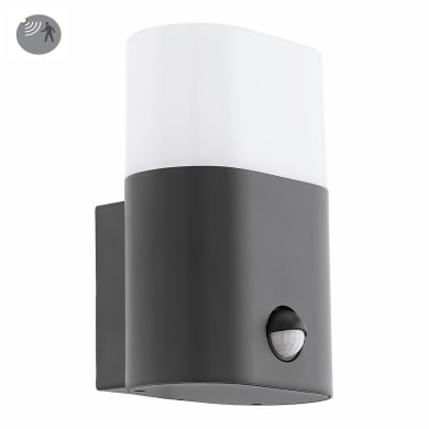 Applique Favria LED integrato con sensore di movimento, in alluminio, antracite, 11W 1250LM IP44 EGLO