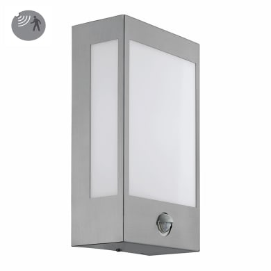 Applique Ralora LED integrato con sensore di movimento, in acciaio inox, inox, 12W 1200LM IP44 EGLO