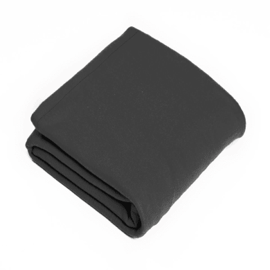 Plaid in 100% poliestere Fleece, grigio / argento, 120x 150 cm