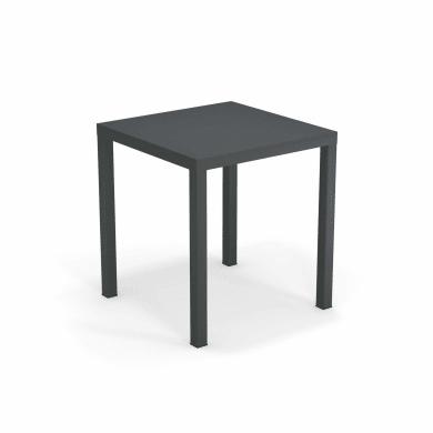 Tavolo da giardino quadrato Festa OASI BY EMU con piano in acciaio L 70