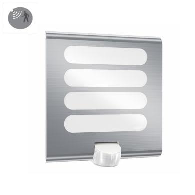 Applique L 224 LED integrato con sensore di movimento, in plastica, acciaio, 7.5W 410LM IP44 STEINEL